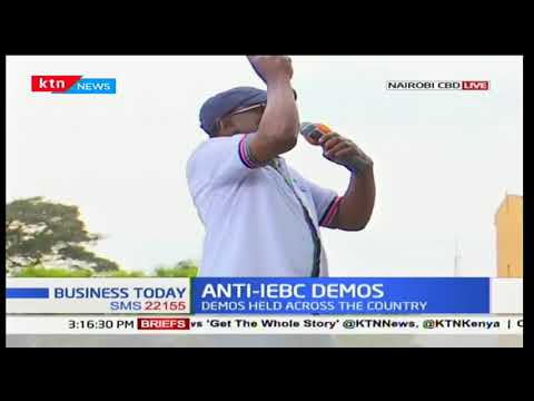 James Orengo addresses NASA supporters making it clear that the demos will be a daily a fair