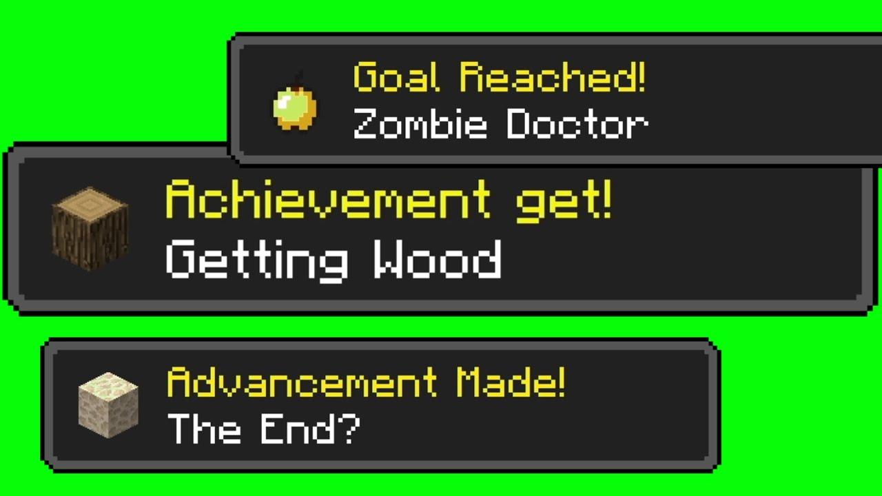 Hd Minecraft Achievements Greenscreen Youtube