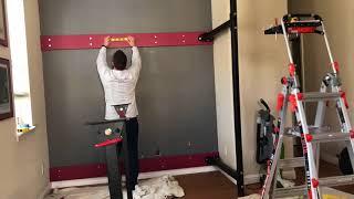 installing titan fitness t 3 41 folding rack