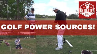 Creating power in the golf swing, upper body versus lower body W Tony Luczak, PGA