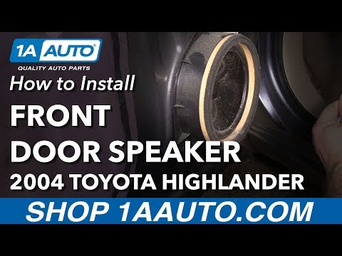 How to Install Replace Front Door Speaker 2004 Toyota Highlander