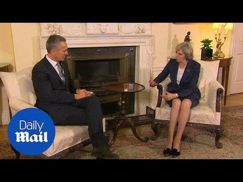 Theresa May holds talks with NATO Secretary Jens Stoltenberg - Daily Mail