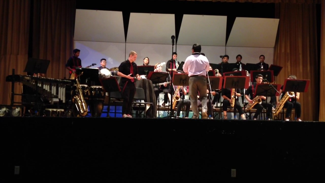 Bellflower High School Jazz Band Anyway You Want It At Bell Gardens High School 4 27 17 Youtube