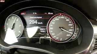 Разгон Audi S7 Sportback до 300км/ч