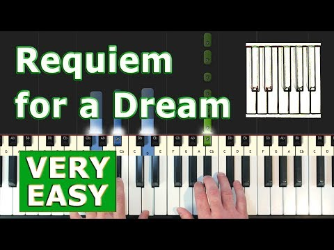 Requiem For A Dream - VERY EASY Piano Tutorial - Sheet Music (Synthesia) thumbnail