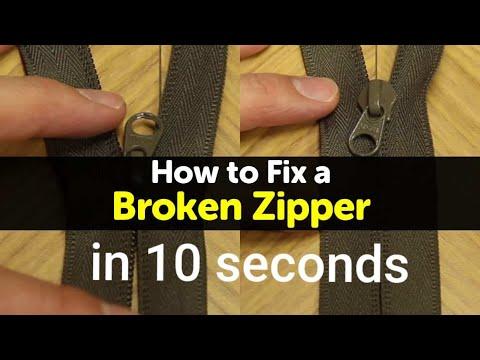 How to fix a Broken Zipper 10 seconds Separated DIY Hack