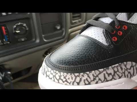 buy popular 66864 8907f Jordan 3 black cement StockX unboxing review