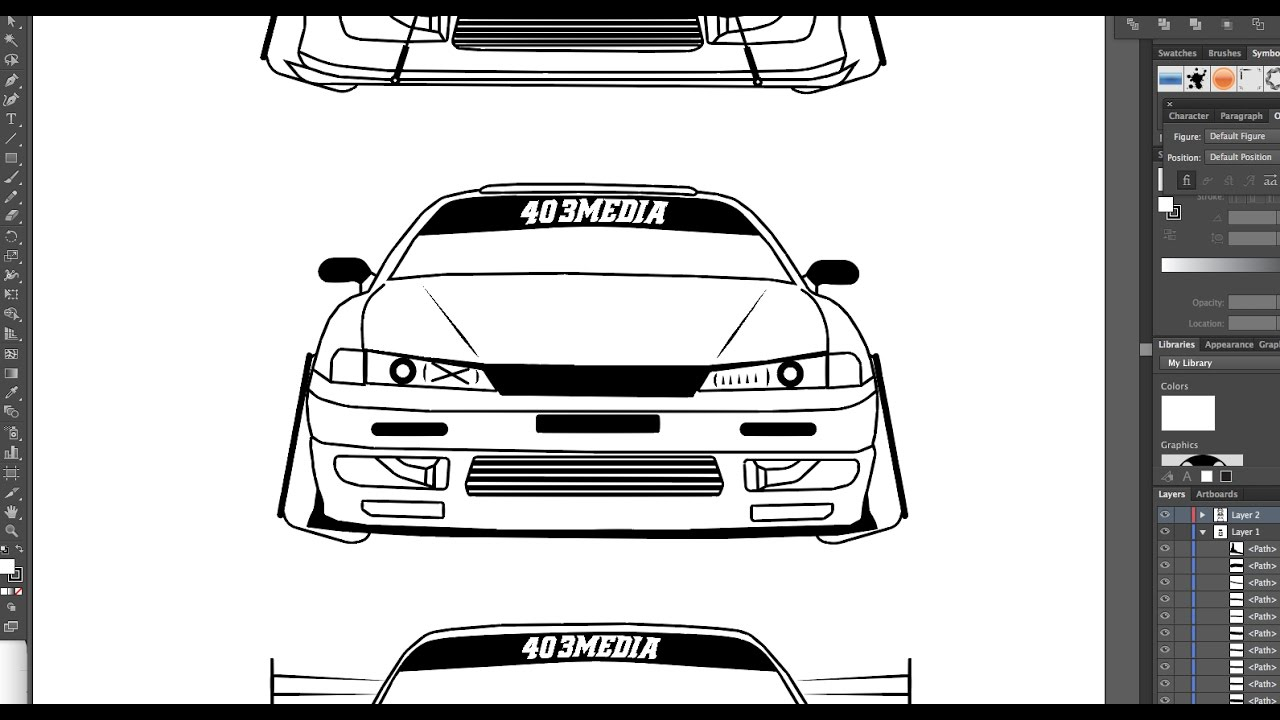 Store Ads Online >> HOW TO DRAW A NISSAN S14 IN ADOBE ILLUSTRATOR - YouTube
