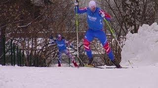 Беговые лыжи. Современный коньковый ход.