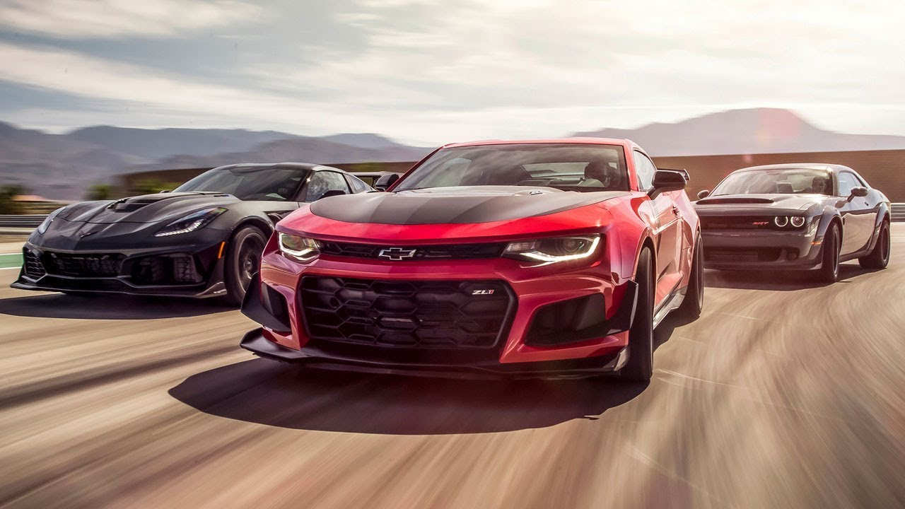 Corvette Zr1 Vs Camaro Zl1 Vs Dodge Demon Top Gear Youtube