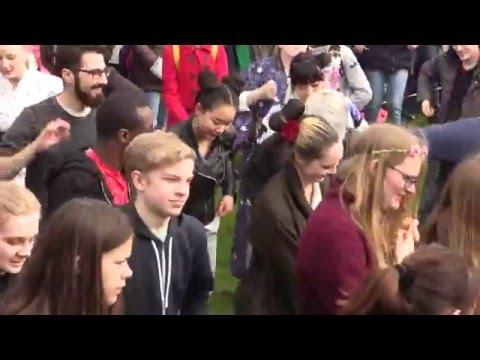 Bon Odori by NihonJin Kai - Group Dance -  Copenhagen Sakura Festival 2016