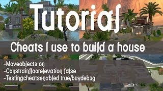 The Sims 3 Tutorial - Which Cheats I Use To Build  Houses