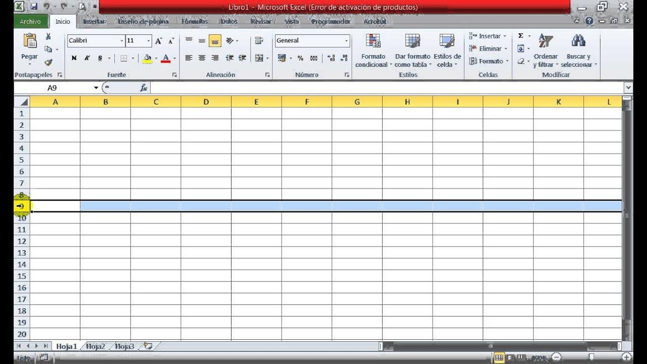 Elementos De La Ventana De Excel 2010