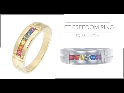Let Freedom Ring LGBT Wedding Engagement Rings by Equallicom
