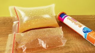 Brause Experiment TEIL 2   PULVER vs. Vitamin Tablette   Kids Versuch für die Sommerferien   DIY FUN