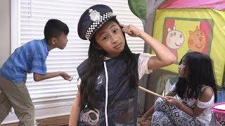 Pretend Play Police on Loud Neighbor Birthday