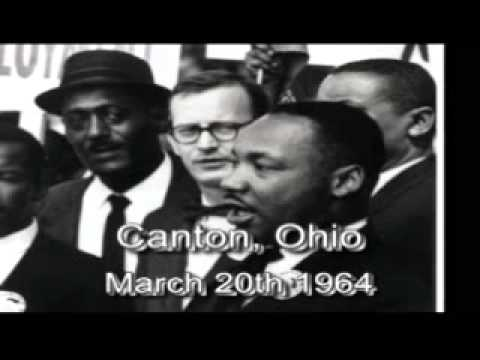 Dr. Martin Luther King Jr. in Canton, Ohio  3-20-64
