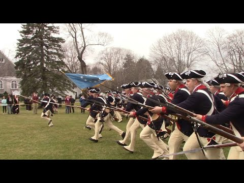 The Old Guard Drill Display in Lexington, Patriot's Day 2018