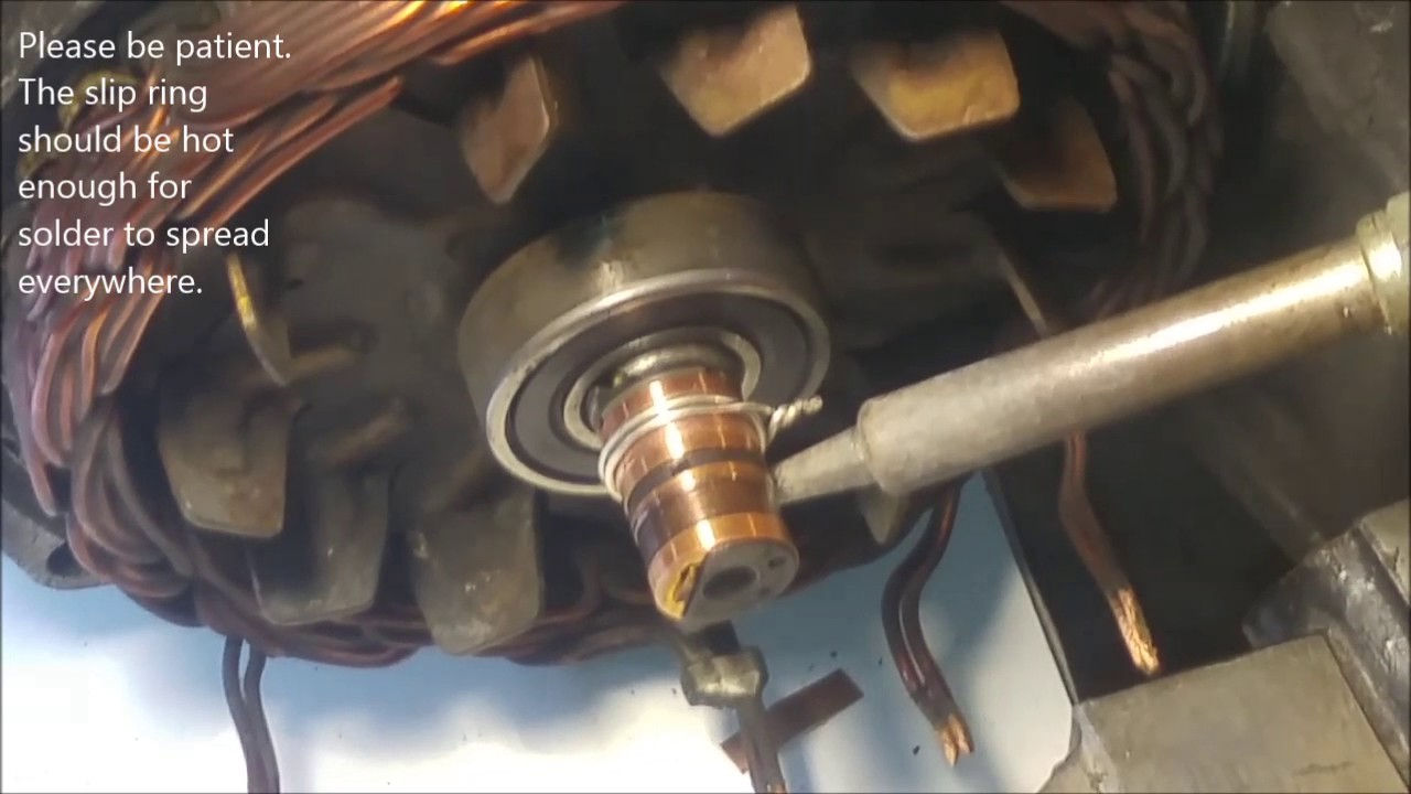 Fixing The Collector Slip Rings Of A Car Alternator By