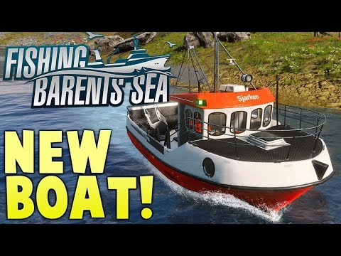 New Boat, Net Fishing & Employees! - Commercial Fishing Simulator - Fishing Barents Sea Gameplay