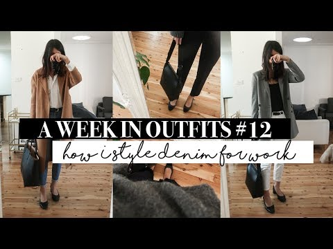 A Week In Outfits #12 - How To Style Denim For The Office | Mademoiselle