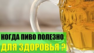 Когда пиво очень полезно для здоровья?