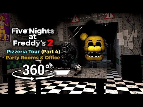 360°| Five Nights at Freddy's 2 Pizzeria Tour - Parts & Service [Part 4] (VR Compatible) thumbnail