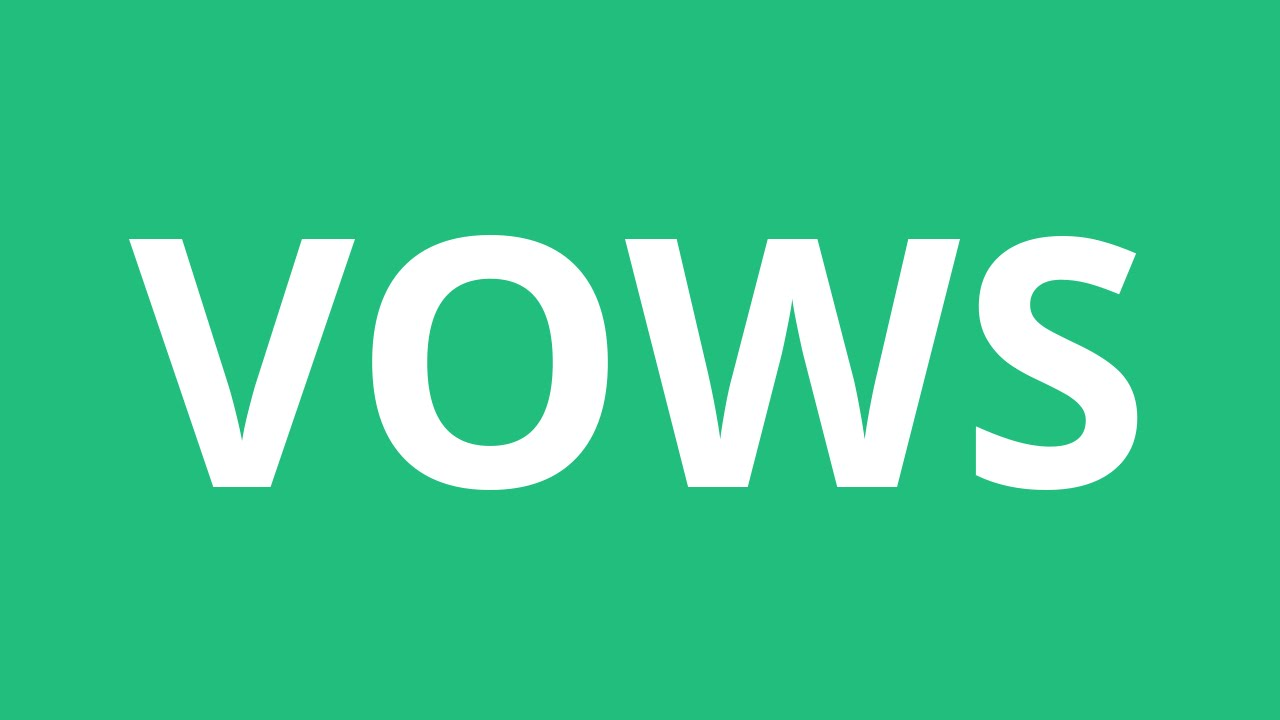 How To Pronounce Vows - Pronunciation Academy