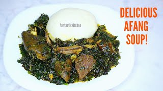Delicious Afang Soup | How to make a very easy and simple Afang soup | Vegetable soup recipe.