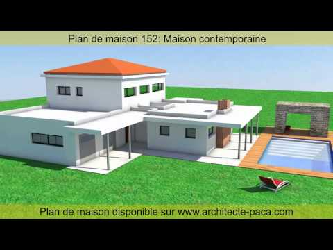 Plan de maison contemporaine 152 d 39 architecte architecte for Plan maison architecte moderne