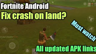 Fortnite Android for Unsupported devices download link | crash on land fixed? [New updated APK]