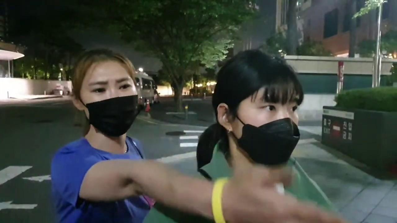 긴급]소녀상지키미 도촬성희롱 극우 피의자 경찰 방관현장/민주시민들 분노