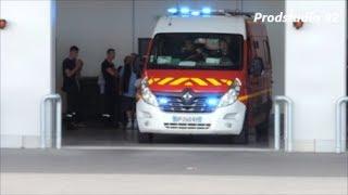 SDIS 62 Départ de 3 VSAV Sapeurs Pompiers Hénin-Beaumont