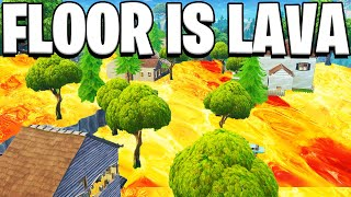 THE FLOOR IS LAVA GAMEMODE in Fortnite PLAYGROUND V2 MODE! - Fortnite Battle Royale