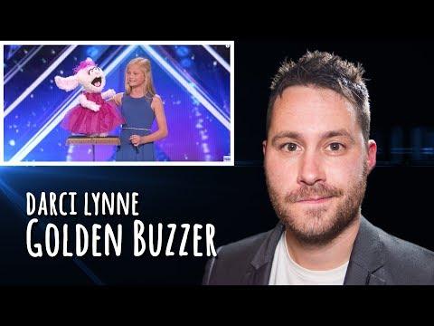 Darci Lynne - Singing Ventriloquist Gets Golden Buzzer - AGT | REACTION