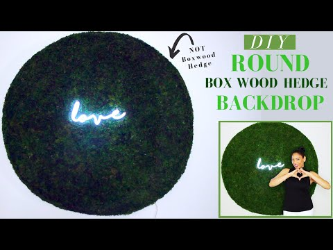 Boxwood Hedge Round Backdrop DIY| Green Backdrop DIY | Super EASY & ONLY $32.