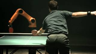 The Duel: Timo Boll vs. KUKA Robot(Man against machine. The unbelievably fast KUKA robot faces off against one of the best table tennis players of all time. Who has the best technique? Who will ..., 2014-03-11T04:00:27.000Z)