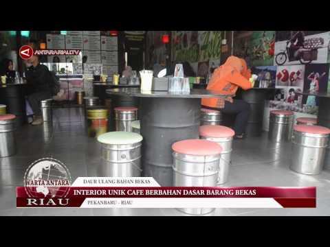 Interior Unik Cafe Berbahan Dasar Barang Bekas Youtube