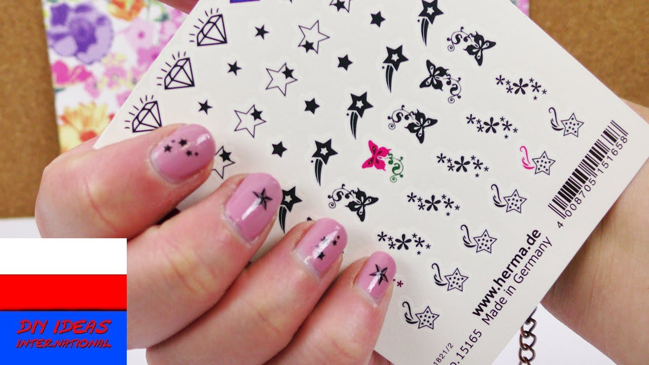 Nail Tattoos Tatuaże Na Paznokcie Test Serduszka I Gwiazdki Manicure