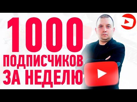 1000 подписчиков за неделю. Как набрать подписчиков на Youtube