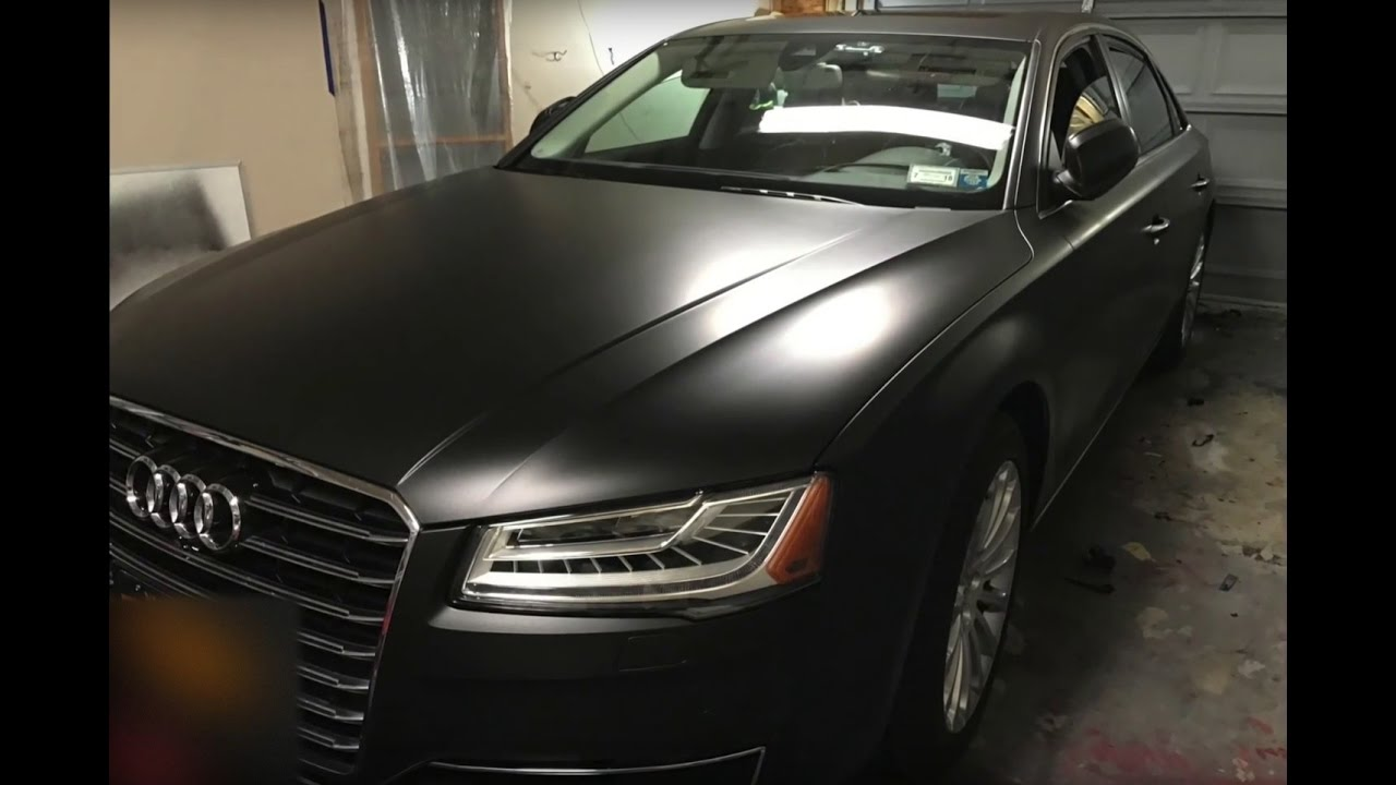 Plasti Dip Emblems >> Satin Black Plasti Dip - Audi A8 - YouTube