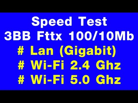 Speedtest 3BB Fttx 100/10 Mb ผ่าน LAN,WIFI2.4,5 Ghz