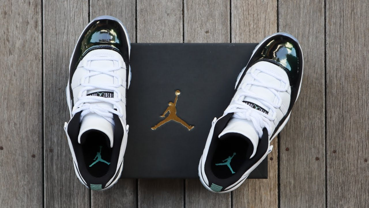 ff0df69f645 AIR JORDAN 11 LOW EMERALD EASTER (IRIDESCENT)