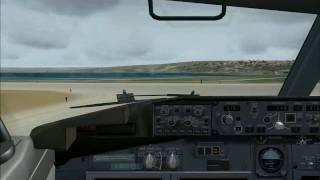 FS2004 Landing at Marseille Provence (LFML) B738