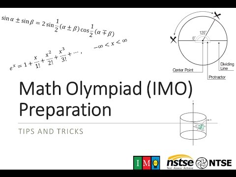 Math Olympiad (IMO) Preparations : Tips and Tricks