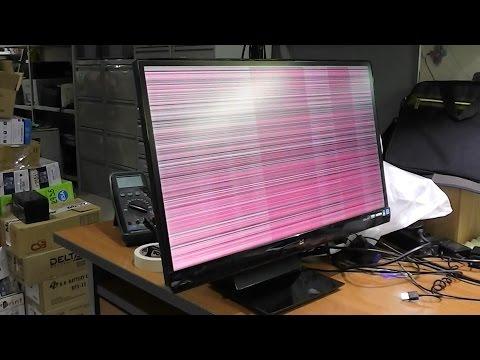 видео: Мерцает экран. Дефекты изображения. Монитор viewsonic vx2370smh-led. Плохой контакт шлейфа
