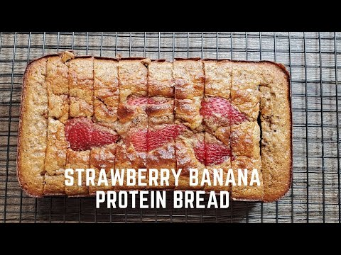 Strawberry Banana Protein Bread Healthy Meal Prep Snack only 78 Calories