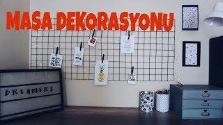 Ucuz Ve Kolay ÇaliŞma Masasi Dekorasyonu / Diy Desk Decor
