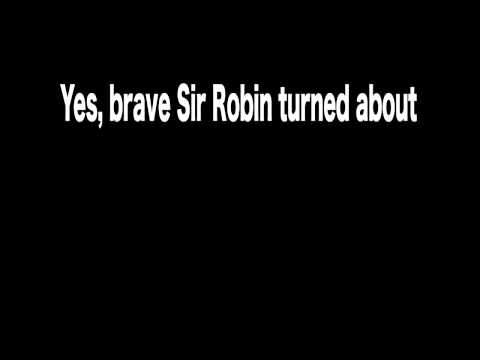 Monty Python Brave Sir Robin Ran Away Kinetic Typography