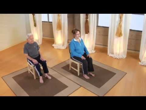 image about Printable Chair Yoga Routines known as Basic Chair Yoga for Inexperienced persons and Seniors